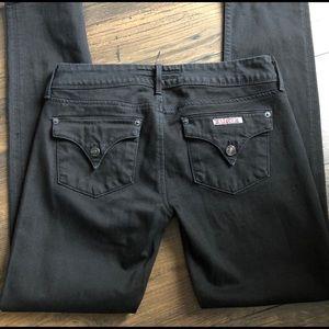 Hudson 28 Black Flap Pocket Skinny Jeans